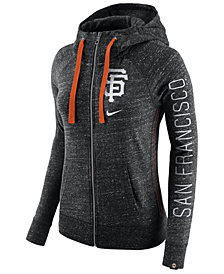Nike Women's San Francisco Giants Gym Vintage Full Zip Hooded Sweatshirt