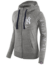 Nike Women's New York Yankees Gym Vintage Full Zip Hooded Sweatshirt