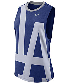 Nike Women's Los Angeles Dodgers Dri-Blend Muscle Mesh Tank