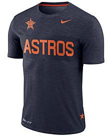 Nike Men's Houston Astros Dri-Fit Slub Stripe T-Shirt