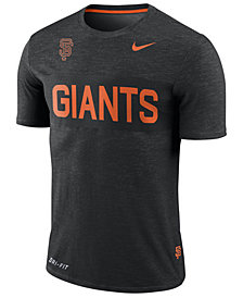 Nike Men's San Francisco Giants Dri-Fit Slub Stripe T-Shirt