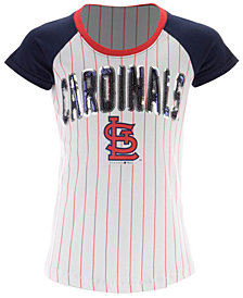 5th & Ocean St. Louis Cardinals Sequin Pinstripe T-Shirt, Girls (4-16)