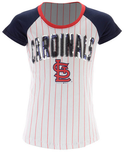 5th & Ocean St. Louis Cardinals Sequin Pinstripe T-Shirt, Girls (4-16)