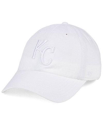 '47 Brand Kansas City Royals White/White CLEAN UP Cap