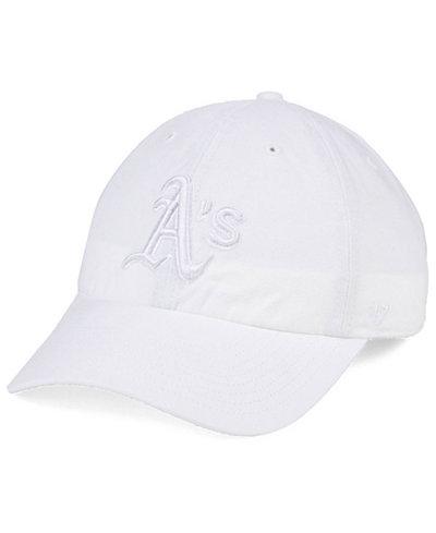 '47 Brand Oakland Athletics White/White CLEAN UP Cap