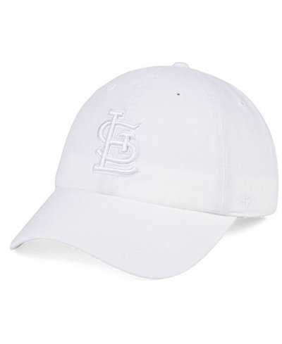 '47 Brand St. Louis Cardinals White/White CLEAN UP Cap