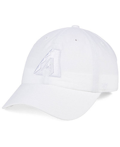 '47 Brand Arizona Diamondbacks White/White CLEAN UP Cap