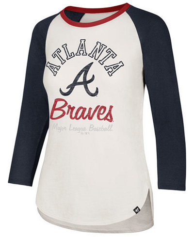 '47 Brand Women's Atlanta Braves Vintage Raglan T-Shirt