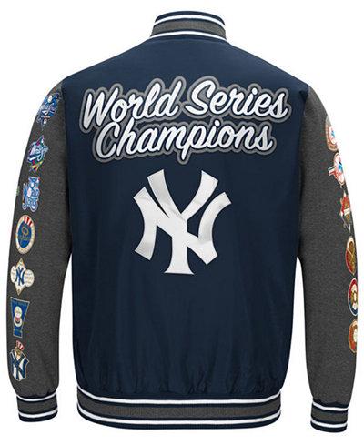G-III Sports Men's New York Yankees Varsity Comm Patch Jacket