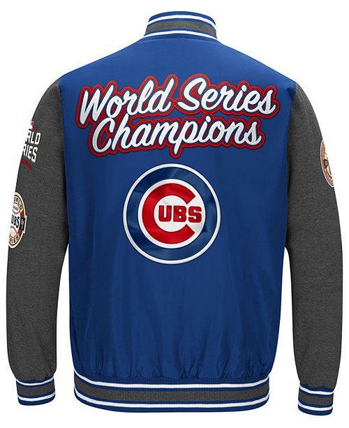 Men's Chicago Cubs Varsity Comm Patch Jacket