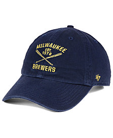 '47 Brand Milwaukee Brewers Axis CLEAN UP Cap