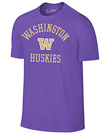 Retro Brand Men's Washington Huskies Arch Logo Dual Blend T-Shirt