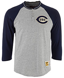 Mitchell & Ness Men's Chicago Cubs 4-Button Henley T-Shirt