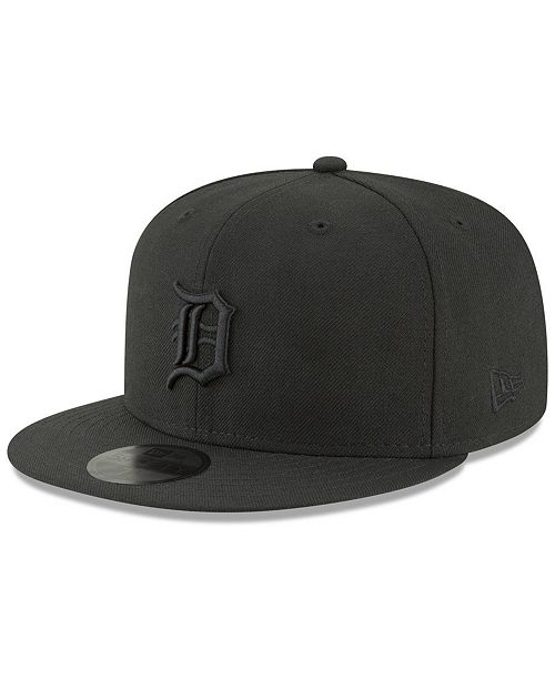 buy online bb4a7 0e90d ... New Era Detroit Tigers Blackout 59FIFTY FITTED Cap ...