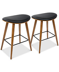 Saddle Counter Stool (Set of 2), Quick Ship