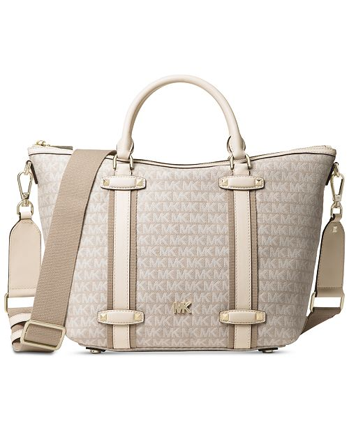 537e59d239 Michael Kors Signature Griffin Large Satchel & Reviews - Handbags ...