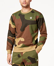 G-Star RAW Men's Stalt Camouflage Fleece Sweatshirt