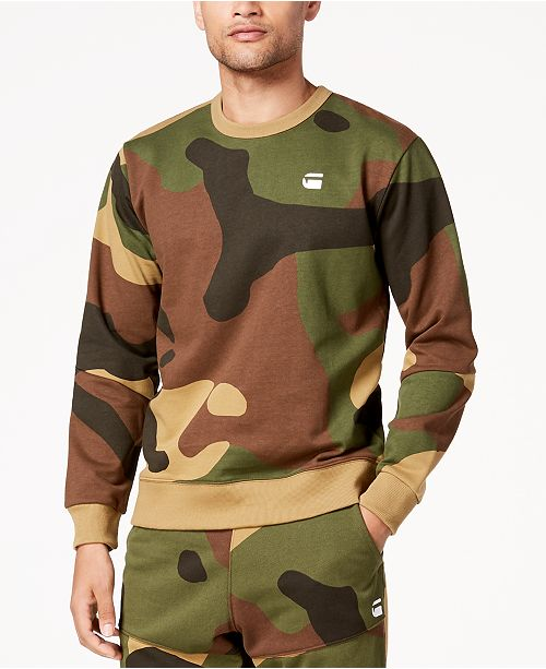 Men's Stalt Camouflage Fleece Sweatshirt