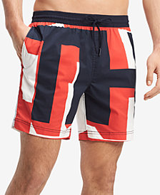 "Tommy Hilfiger Men's Passage Printed 6.5"" Swim Trunks, Created for Macy's"