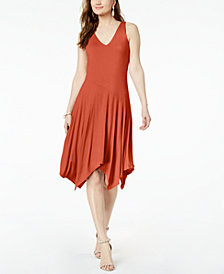 I.N.C.  Sleeveless Knit Asymmetrical Hem Dress, Created for Macy's