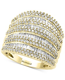 EFFY® Diamond Multi-Row Statement Ring (1-3/4  ct. t.w.) in 14k White, Yellow and Rose Gold
