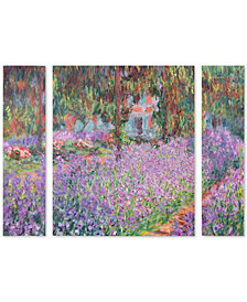 Claude Monet 'Artist's Garden at Giverny' Large Multi-Panel Wall Art Set