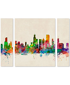 Michael Tompsett 'Chicago Illinois' Large Multi-Panel Wall Art Set