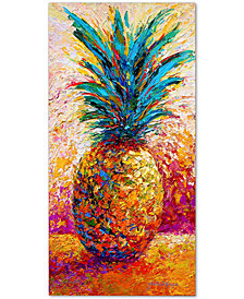 """Marion Rose Pineapple Expression 12"""" x 24"""" Canvas Art Print"""