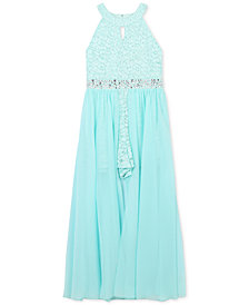 Speechless Lace Maxi-Overlay Romper, Big Girls