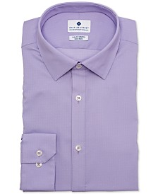 Ryan Seacrest Distinction™ Men's Ultimate Active Slim-Fit Non-Iron Performance Stretch Lavender Square Dot Dress Shirt, Created for Macy's