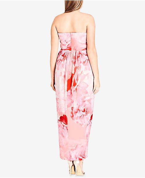 Trendy Plus Size Strapless Maxi Dress