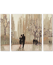 "Julia Purinton An Evening Out Neutral 30"" x 41"" Multi-Panel 3-Pc. Art Set"