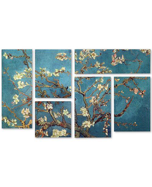 "Trademark Global Vincent van Gogh 'Almond Blossoms' Multi Panel Art Set - 12"" x 18"""