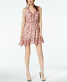 Rachel Zoe Lyle Silk Ruffled Fit & Flare Dress