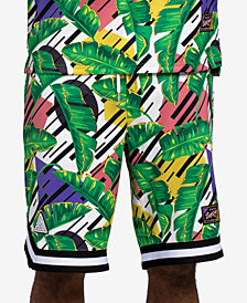 "Black Pyramid Men's Leaf-Print 11"" Shorts"
