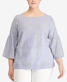 Lauren Ralph Lauren Bell-Sleeve Boat Neck Top