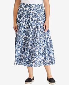 Lauren Ralph Lauren Plus Size Plus Size Maxiskirt, Created for Macy's