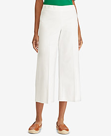 Lauren Ralph Lauren Stretch Wide-Leg Pants