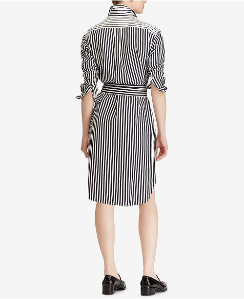 d401e8e936e Polo Ralph Lauren Striped Cotton Shirtdress   Reviews - Dresses ...