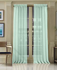 "J Queen New York Waterbury Sheer 50"" x 108"" Rod Pocket Curtain Panel"