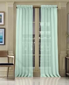 "J Queen New York Waterbury Sheer 50"" x 108"" Rod Pocket Curtain Panel"