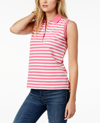 Tommy Hilfiger Sleeveless Polo Top, Created for Macy's