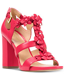 MICHAEL Michael Kors Women's Tricia Block-Heel T-Strap Dress Sandals