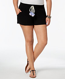 Planet Gold Trendy Plus Size Tassel Shorts