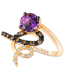 Le Vian Chocolatier® Vibrant Orchid™ Grape Amethyst™ (3/4 ct. t.w.) & Diamond (1/8 ct. t.w.) Ring in 14k Gold