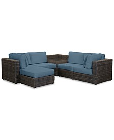 Viewport Outdoor 6-Pc. Modular Seating Set (2 Corner Units, 2 Armless Units, 1 Corner Table and 1 Ottoman) with Custom Sunbrella® Cushions, Created for Macy's