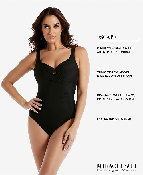 e7ac94bd83c84 Miraclesuit Escape One-Piece Allover Slimming Underwire Swimsuit ...
