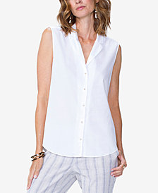 NYDJ Sleeveless Cotton Shirt