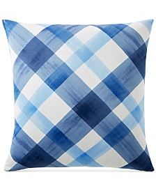 CLOSEOUT! Charter Club Damask Designs Painted Plaid European Sham, Created for Macy's
