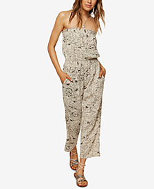 O'Neill Juniors' Meryl Strapless Jumpsuit